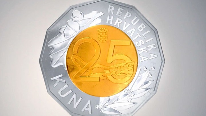 Hrvatska Narodna Banka Izdala Novu Kovanicu Od 25 Kuna